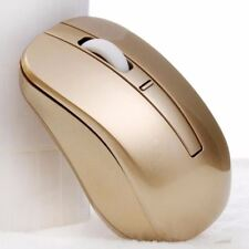 Gold Wireless Cordless 2.4GHz Mouse USB Dongle Optical Scroll For PC Laptop US