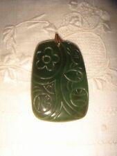 Antique Chinese Dark Green JADE pendant