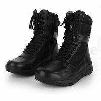 Men's Military Combat Ankle Boots Leather Army Combat SWAT Hunting Work Shoes