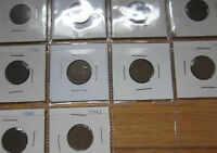 Complete Set of Canada Small Cents George V and VI Coins (1932-1941).