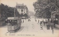 Besancon, France ~ Great View of a Trolley On The Street ~ c1910
