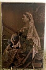 Rare 1897 Portrait Tile Of Queen Victoria Commemorating Her Diamond Jublee