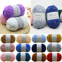 Gold Velvet Chenille Medium Thick Wool Thread Diy Crochet Sweater Scarf Line HY