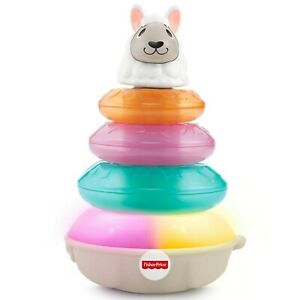 Fisher Price Linkimals Lights and Colours Llama Interactive Stacking Ring Toy