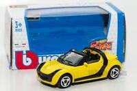 Smart roadster yellow, Bburago 18-30176, scale 1:43, toy gift model
