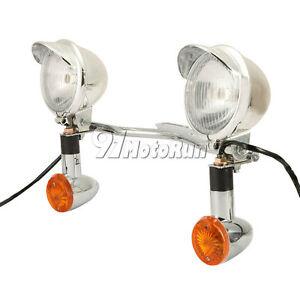 Passing Turn Signals Spot Light Bar for Yamaha V-Star XVS 250 650 950 1100 1300