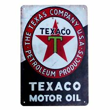 Metal Tin Sign texaco motor oil Decor Bar Pub Home Vintage Retro Poster Cafe