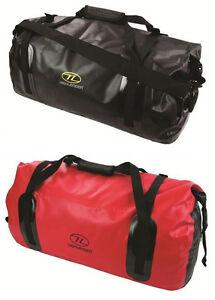 Travel Shoulder Rucksack Dry Waterproof Holdall Duffle Bag Pack 35L Black Red
