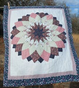 Pink/blue/cream/red star patchwork pillow sham for UPCYCLING