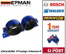 EPMAN Fuel pump bracket suit dual Bosch 044 Aluminium twin mount Blue 55-60mm