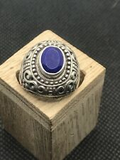 Vintage John Hardy ? Sterling silver faceted lapis ring Size 6