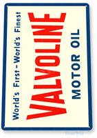 TIN SIGN Valvoline Oil Medal Décor Wall Art Gas Garage Shop Bar A672