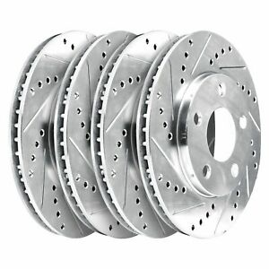 For 1999-2002 Daewoo Leganza Hart Brakes Front Rear Drilled Slotted Brake Rotors