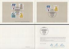 Ministerkarte 12.1.89 Sehenswürdigkeiten (MiNr. Bund 1398-1401, Berlin 831-32)