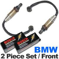 2PC BMW O2 Oxygen Sensor Set FRONT/UPSTREAM Genuine Bosch w/ OEM Plug E46/M54 02