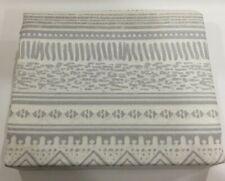 Twin Size Sheet Set Bedding 3 Piece 100% Cotton Deep Pocket T500 Beige Gray