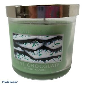 Bath and Body Works Slatkin & Co. MINT CHOCOLATE  Scented Candle 4 oz NEW