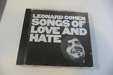 LEONARD COHEN CD SONGS OF LOVE AND HATE . NUMERO DIFFERENT AU VERSO