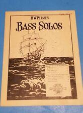 H W Petrie's Bass Solo Sheet Music 1900