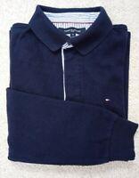 TOMMY HILFIGER Sport Dark Blue Cotton Collared Jumper Size S