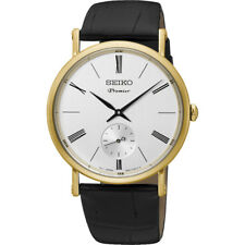 Seiko Analógico casual Watch Premier negro de los hombres Srk036p1