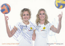 Laura LUDWIG/Sara GOLLER - Silber EM 2007 Beachvolleyball, Original-Autogramm!