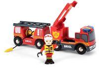Brio EMERGENCY FIRE ENGINE Wooden Toy Train BN