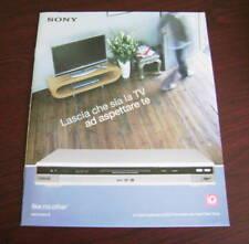 Catalogo Sony dvd recorder con hard disk drive depliant brochure tv home cinema