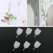 6PCS Bathroom Door Hooks Wall Hanger Hats Bag Key Adhesive Plastic Coat Hook CN