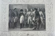 Druck Buchseite Bonaparte Erfurt Raffet (N121)