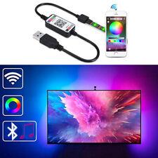 5V USB RGB 5050 LED Strip Streifen TV Hintergrund-Beleuchtung APP Fernbedienung