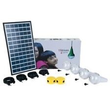 Solar Kit Ulitium 4 Led Lamps (240 Lumen each) w/ integrated Li-Ion Batteries
