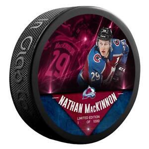 Nathan MacKinnon Colorado Avalanche Unsigned Fanatics Player Hockey Puck /1000