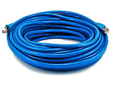 75FT 24AWG Cat6A 500MHz STP Ethernet Bare Copper Network Cable - Blue 5906