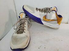 b9e8dcb7aa42 Nike Zoom Kobe V 5 Home Sz 13 White Del Sol Purple Yellow 386429-102