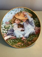 A Time To Love By Sandra Kuck 1989 Children with Puppy Farm Collector Plate Reco