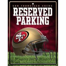 """Rico Metal Reserved Parking Wall Sign NFL 8.5""""x 11"""" San Francisco 49ers New"""