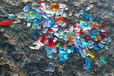 1/2 Lb Bulk Mini Beach Sea Glass Seed beads , freeform Rainbow Dec craft jewelry