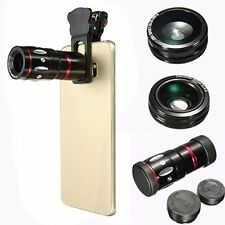 Smartphone Photography Lens 4 Mode Telephoto Fisheye Wide Angle Macro Aluminum