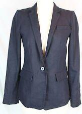 J.Crew $178 Petite Women's Regent Blazer Linen Navy Blue P4 4 4P Career C0575