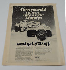 Vintage 1976 Mamiya 35mm MSX 1000 Magazine Ad Advertisement