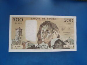 500   FRANCS   PASCAL  1989   E 300
