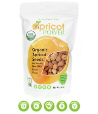 Apricot Power Organic Bitter Raw Apricot Kernel Seeds - All Natural NON-GMO 16oz