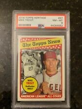 2018 Topps HERITAGE #47 MIKE TROUT.........PSA 8