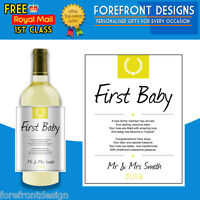 Personalised First Baby/Child poem wine bottle label, Perfect gift!