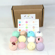 Reduced plastic Fizzy Bath Bombs set of 12 x 65g Round gift set Bee Beautiful