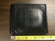 Coach Embossed Black Leather Men's Wallet Bifold Billfold Gently Used