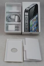 Apple IPhone 4S Box, NEW Power Plug & Cable, White Box, instructions, inserts