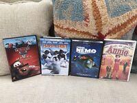 4 DVD's Disney Pixar Finding Nemo, Happy Feet, Annie, Cars Mater's Tall Tales