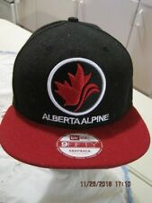 ALBERTA ALPINE New Era 59Fifty Baseball Ball Cap Snapback Black /w Red Brim NEW